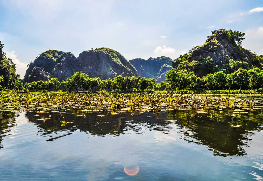 River boat ride in Tam Coc, Vietnam
