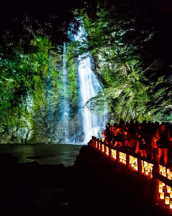 Minoh Waterfall, Japan, Candle Festival