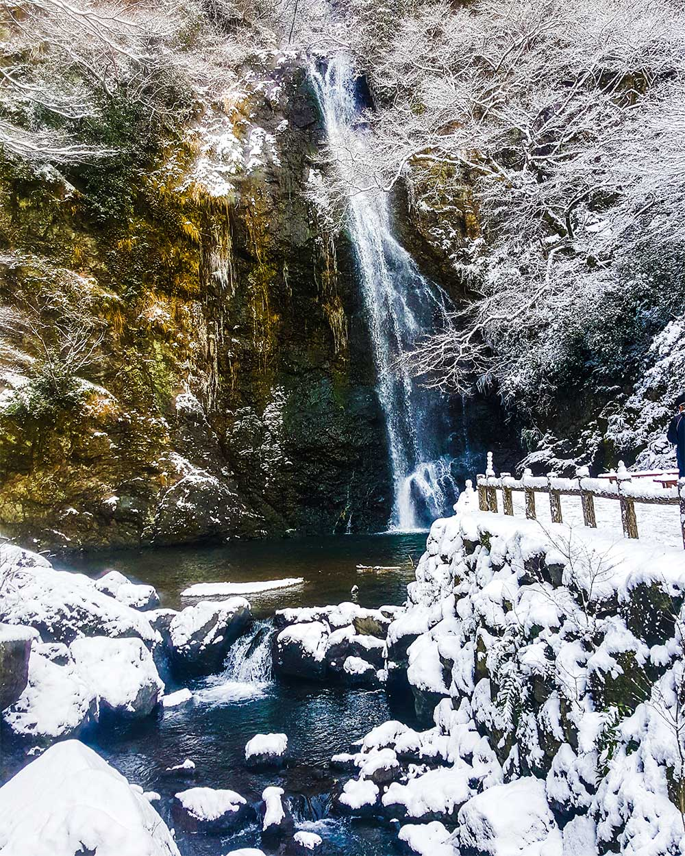 Minoh Waterfall, Japan, Winter